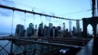 Brooklyn Bridge at dawn video