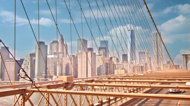 Brooklyn Bridge at sunset video