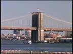 NYC: Brooklyn Bridge from Battery Park Docks / Piers (Pull) video