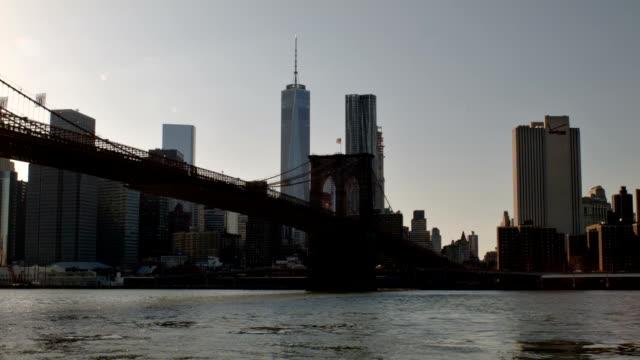 Brooklyn bridge in New York city video