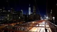 Brooklyn Bridge Traffic Time Lapse video