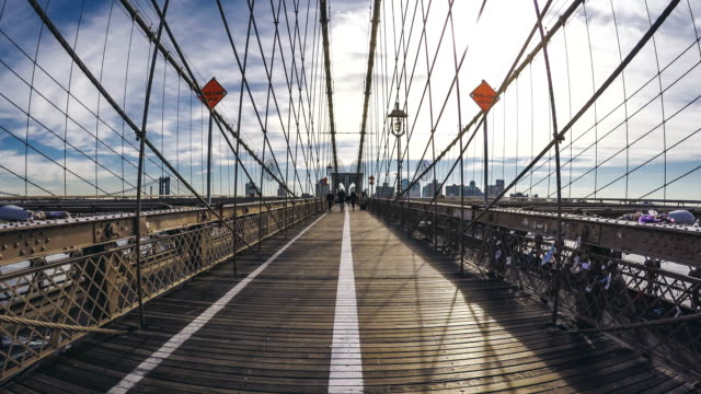 Brooklyn Bridge walking hyperlapse video