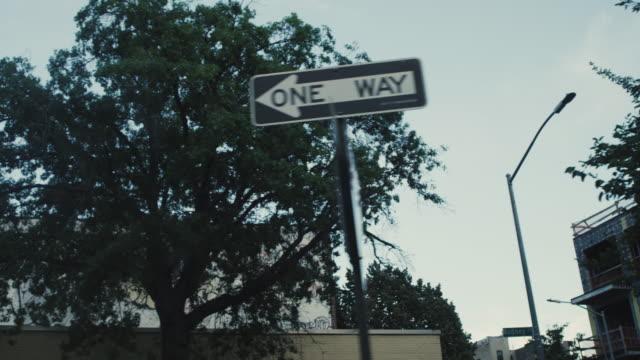 Brooklyn New York Driving one way sign graffiti video