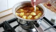 broth with dumplings video