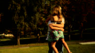HD Brother and Sister Hug then Twirl video