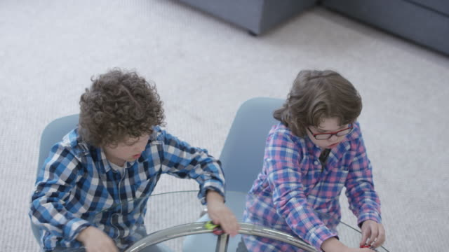 Brothers Playing with Toy Cars video