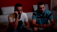 Brothers watching TV video