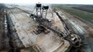 AERIAL: Brown Coal Excavator video