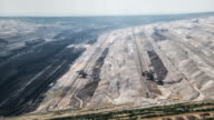 AERIAL: Brown coal mine video