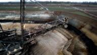 AERIAL : Brown Coal Mining video