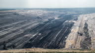 AERIAL: Brown coal surface mine video