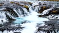 Bruarfoss Waterfall , Iceland video