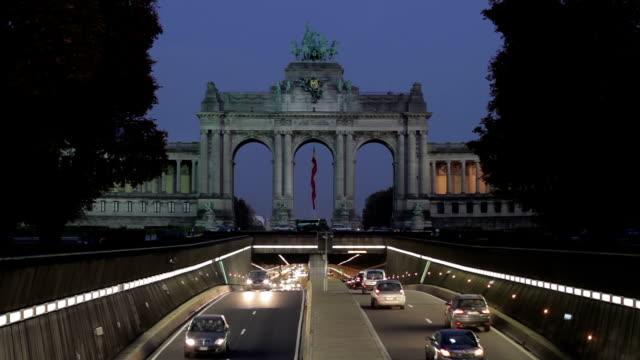 Brussels Cinquantenaire Park Tunnel video