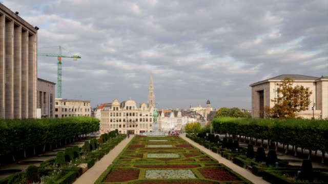 Brussels Cityscape from Hill of Arts TL video
