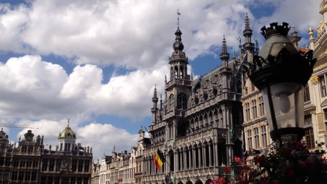 Brussels Grand Place in the summer time lapse video