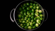 Brussels sprouts boiling in pot video