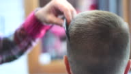 brutal barber clipper mows bearded hipster video