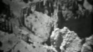 1937: Bryce canyon national park rock formations cliffs natural beauty. video