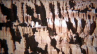 1972: Bryce canyon national park scenic views of unique rock formations. video