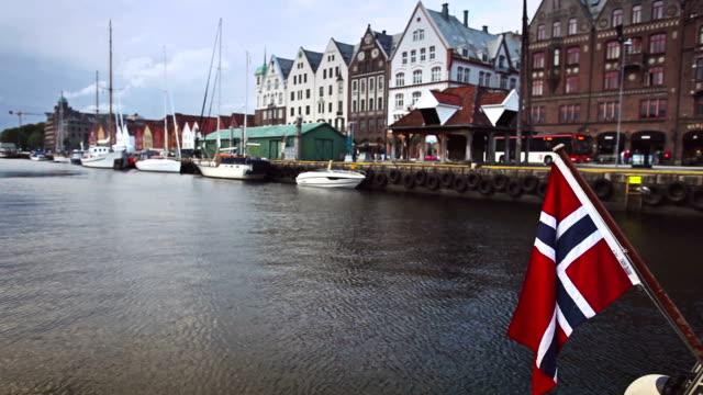 Bryggen old town in Bergen video