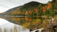 Bubble Pond Autumn reflections, Acadia National Park, Maine video
