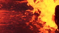 Bubbling lava  in a volcanic crater , Hawaii video