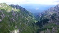 Bucegi mountains, Romania, aerial view video