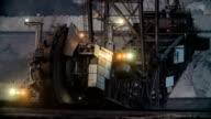 Bucket Wheel Excavator in brown coal mine video