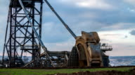 Bucket Wheel Excavator in Brown Coal Surface Mine video