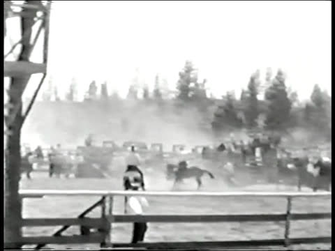 Bucking horse and rider video