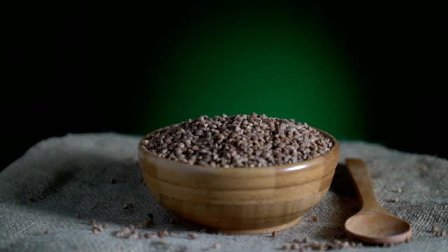 Buckwheat turning loopable video