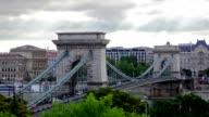 Budapest centre with Szechenyi Chain Bridge video