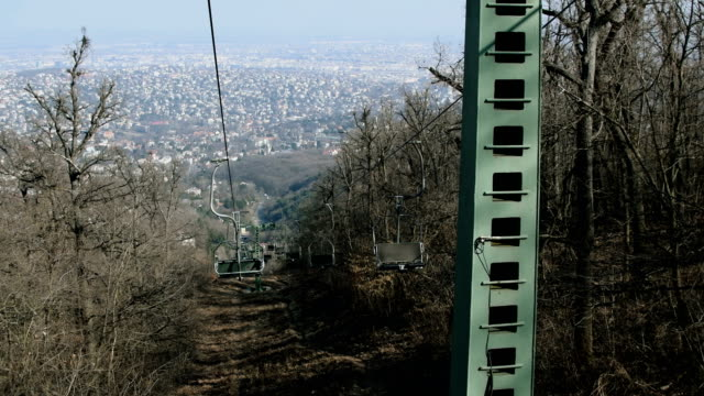 Budapest Chairlift Through Woods video