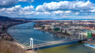Budapest cityscape timelapse video
