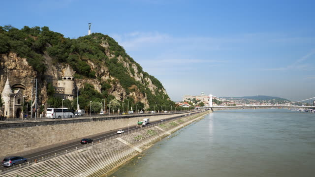Budapest Danube Riverbank and Gellert Hill video
