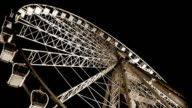 Budapest Eye - famous Ferris wheel's spinning fast in the night video