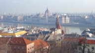 Budapest from Buda in the morning video