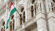 Budapest Hungarian Parliament Building Facade Detail video