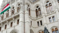 Budapest Hungarian Parliament Building Facade video