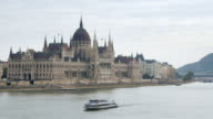 Budapest Hungarian Parliament Building On Danube River video