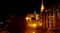 Budapest Matthias Church And Hotel Building On Fisherman's Bastion video