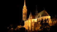 Budapest Matthias Church At Night video