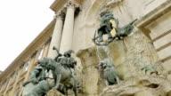 Budapest- monumental fountain of San Matthias video