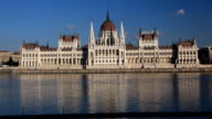 Budapest Parliament on Danube river, Hungary video
