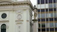 Budapest Statue Of The Virgin Mary On Szervita Tér video