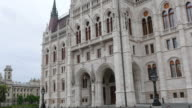 Budapest View with Parliament Building and Danube River video