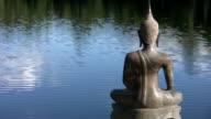 Buddha by the lake. video