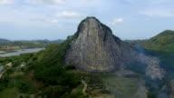 Buddha carved cliffs at Khao Chee Chan Cliff, Sattahip, Chonburi province, Thailand video
