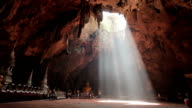 Buddha images in Khao Luang cave, Thailand video