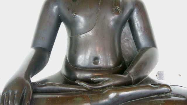 Buddha seated cross-legged video